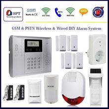 CP-21A wireless home security, wireless gsm security alarm sms alert, alarm home system outdoor