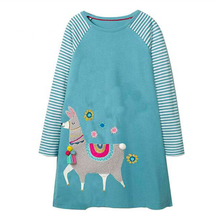 Long sleeve cotton kids clothing <strong>dress</strong> <strong>girl's</strong> <strong>dress</strong>