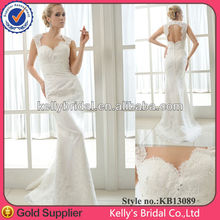 Popular mermaid style lace wedding dresses with keyhole back