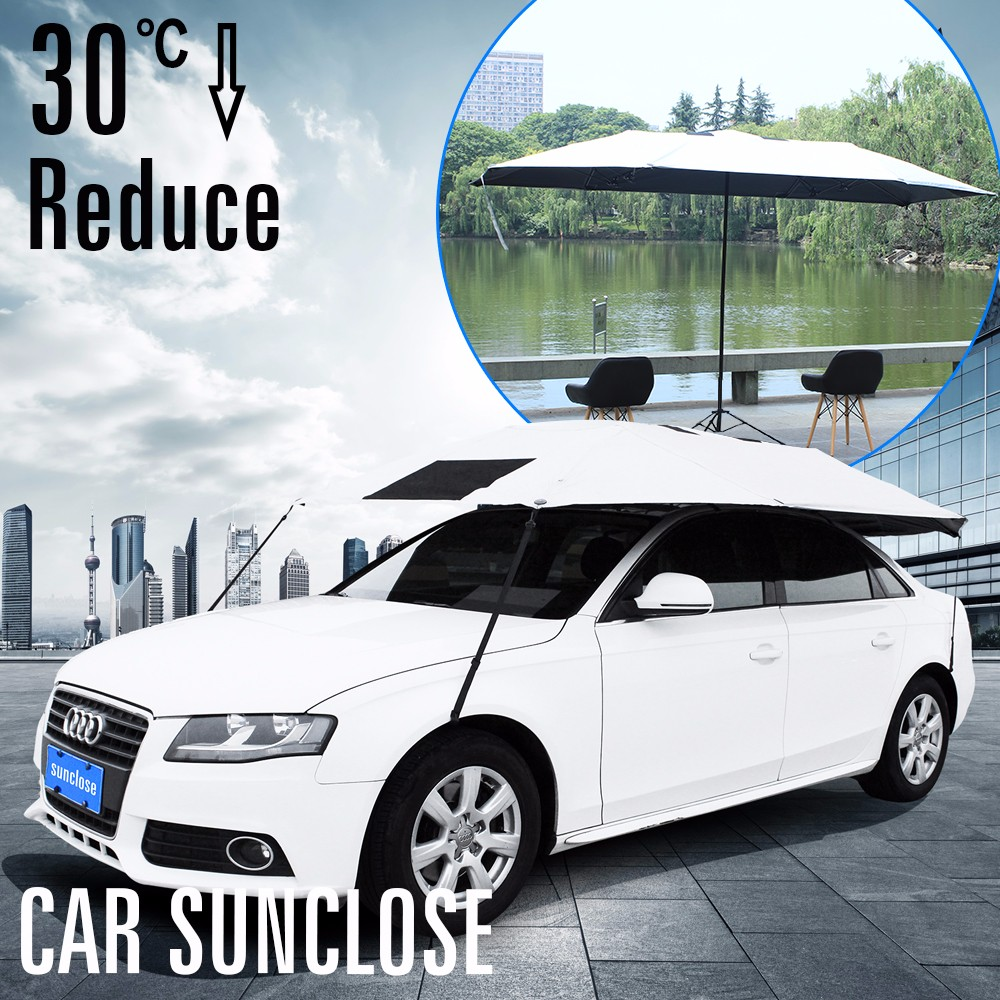 UV protection sun proof retractable outdoor car parking awnings
