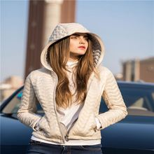 TOP SALE trendy style ladies winter fashion design cotton-padded coat from manufacturer