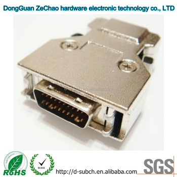 20 Pin Female/Male Connectors,Backshells 1.27mm Pitch Straight Interface to PCB SCSI Connectors