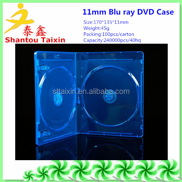 11mm pp blu-ray dvd case,portable dvd player case