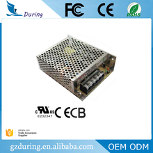 UL approved 75w 5v 12v 15v 24v 48v Output high quality switching mode power supply