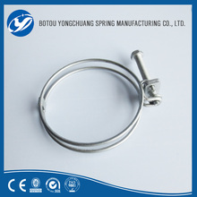 Stainless Steel types of hose clamps small hose clamps double wire
