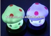 Flashing LED mushroom night light