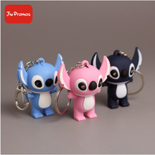 Wholesale Stitch LED keychain with sound and light