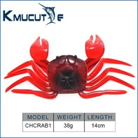 CHCRAB1 soft fishing lure crab bait 14cm 38g soft crab fishing lure