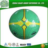 promotional Emboss logo Rubber machine sewn pvc soccer ball