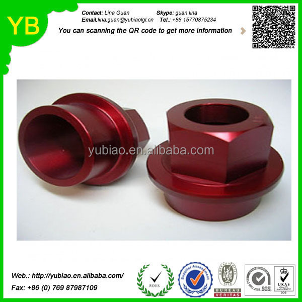 High precision custom aluminum cnc motorcycle parts with red anodize for automation machine made in china