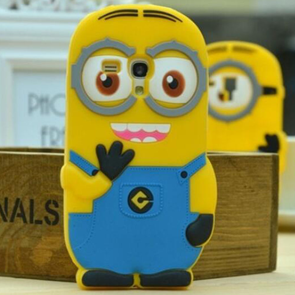Minion case for samsung galaxy s3 s4 mini i9190 i8190 A3 A5 A7 A8 Back Cover