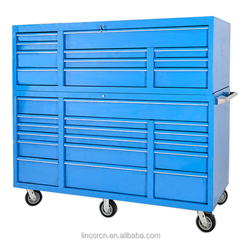 Lincor 72in 22 drawers heavy duty high precision OEM custom service metal garage tool cabinets