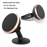 Multifunction 360 Degree Rotation Dashboard Car Holder Air Vent Holder Universal Magnetic Car Mount With Two Clips