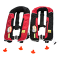 double balloon double chamber marine inflatable life jacket for surfing