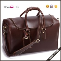 2014 fashion travel genuine leather hand bag