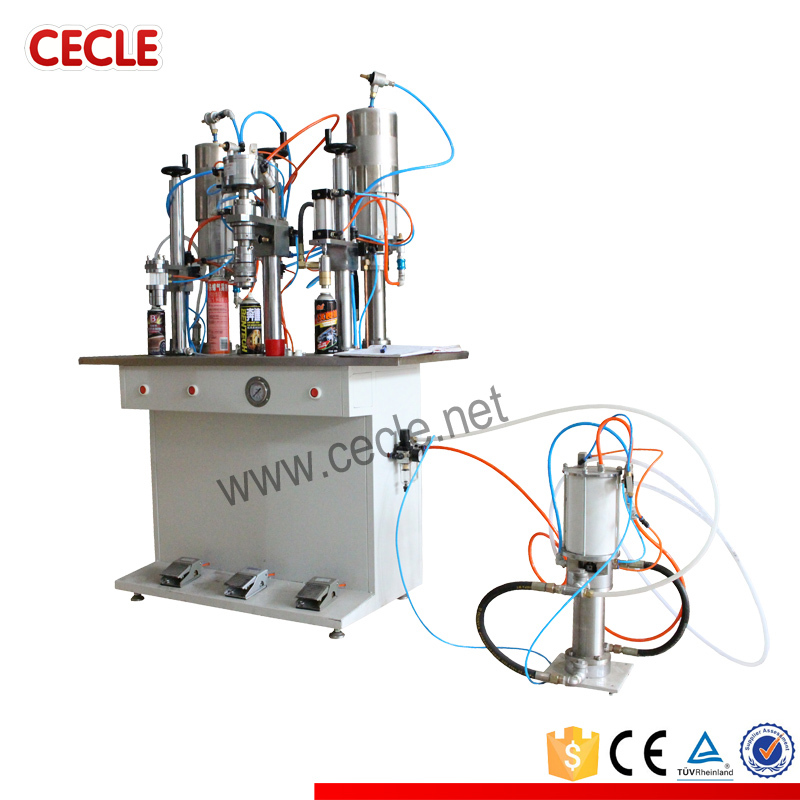 Cheap ce stadard aerosol spray bottle filling machine price