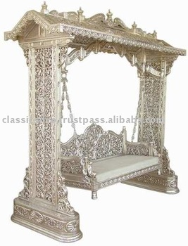 Royal Hand Carved Silver Swing Jhula furniture (Royal Silver Furniture from Rajasthan)