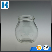 UNIQUE STYLE TRADE ASSURANCE GLASS RIBBED STORAGE JAR