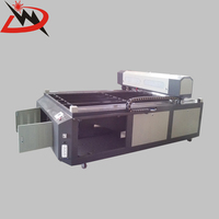 Promotion!! Jinan Dowell 1325 300w good performance rubber ceramic & double color sheets laser cutting machine for sale
