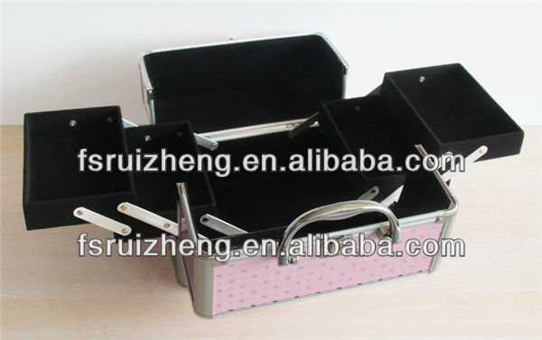Pink aluminum professional cheap makeup bags and cases RZ-TTP13