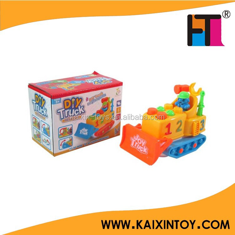 kids DIY truck mini carton toy battery operated vehicle