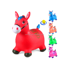 Eco-friendly Inflatable jumping animal horse bouncing toy with mixed model and color