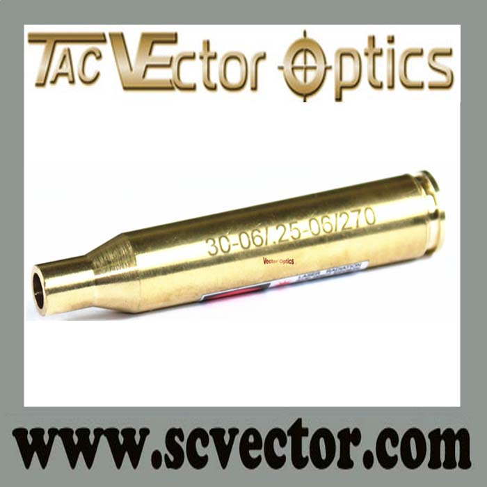 Vector Optics Full Brass Cartridge 25-06 Rem 270 Win 30-06 Springfield Cartridge Red Rifle Scope Laser Bore Sight / Sighter Gold