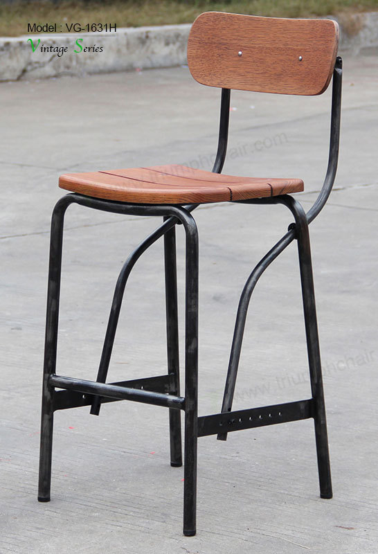 Triumph Wood Furniture Bar Stool For Heavy People Metal