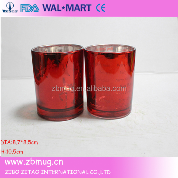 glass votives high quality spotted mercury gold glass candle holder
