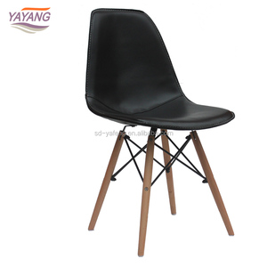 New Design Cheap PU Leather Dining Room Furniture Tulip Chair
