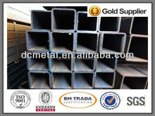 Q235 welded hot dip galvanized square tube/pipe,black annealed hollow section weight of ms light weight square tubes