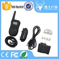 Rechargeable lithium batteries and High light LCD display dog shock training antibark collar