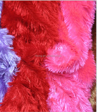 long pile plush with shinning for India