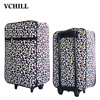 fabric travel printing luggage trolley bags for family journey