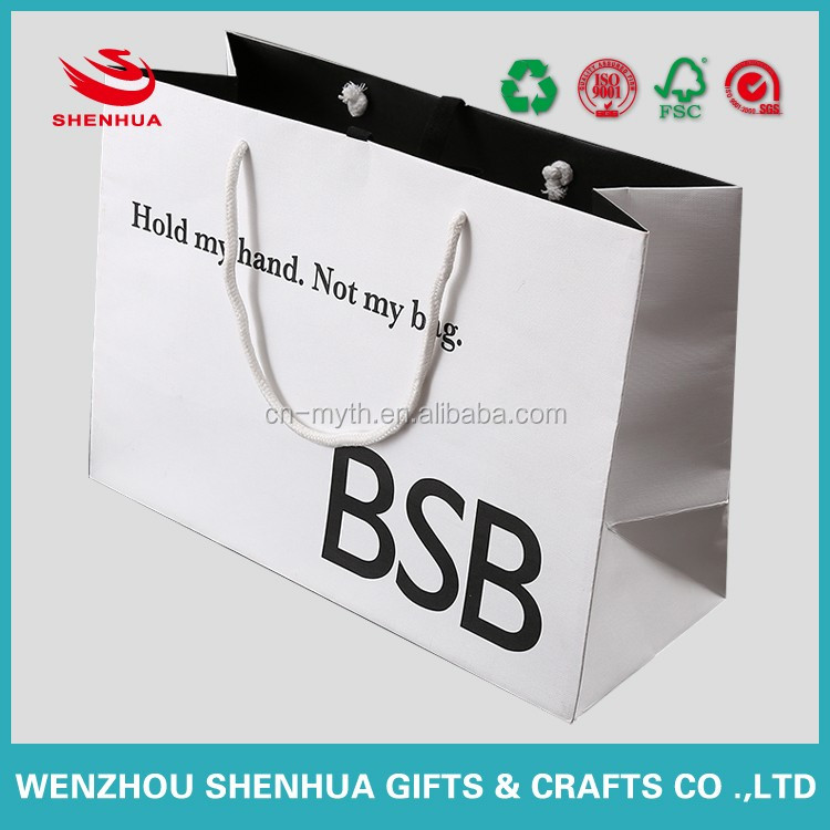 cheap clothes paper shopping bags