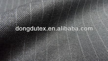 Heighted wool touch Gray stripe fabric