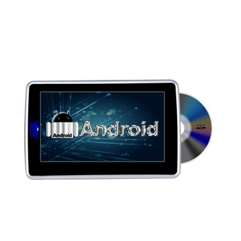 touch screen android system headrest dvd player USB/IR/FM/WIFI android car dvd with touch button