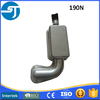 Chinese excavator engine titanium accurate exhaust muffler
