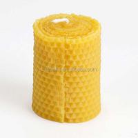 100% honeycomb pillar beeswax candle