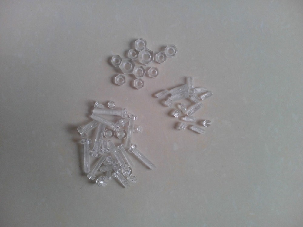 plastic screws,pc screws, clear pc screws and nuts