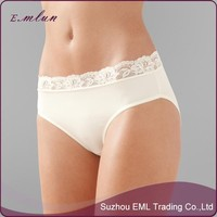 White womens nylon Panty brief