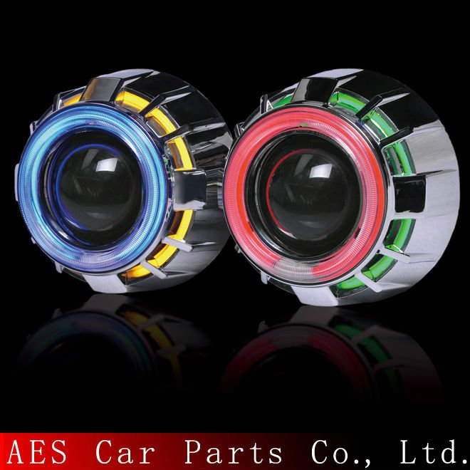 auto tuning!AES Bixenon projector lens kit directly for H4 H7 car headlight