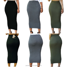 2017 Autumn Vintage Package Hip skirt Jupes Pour Femmes Office Sexy Women High-waisted Bodycon Maxi Skirt 71188 Jupe Femme Saias
