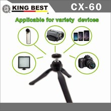 KING BEST table tripod Foto pro timelapse 360 degree travel aluminum tripod for camera phone,gopros