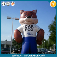 Custom advertising Inflatable fox cartoon for car/ inflatable cartoon model/inflatable mascot