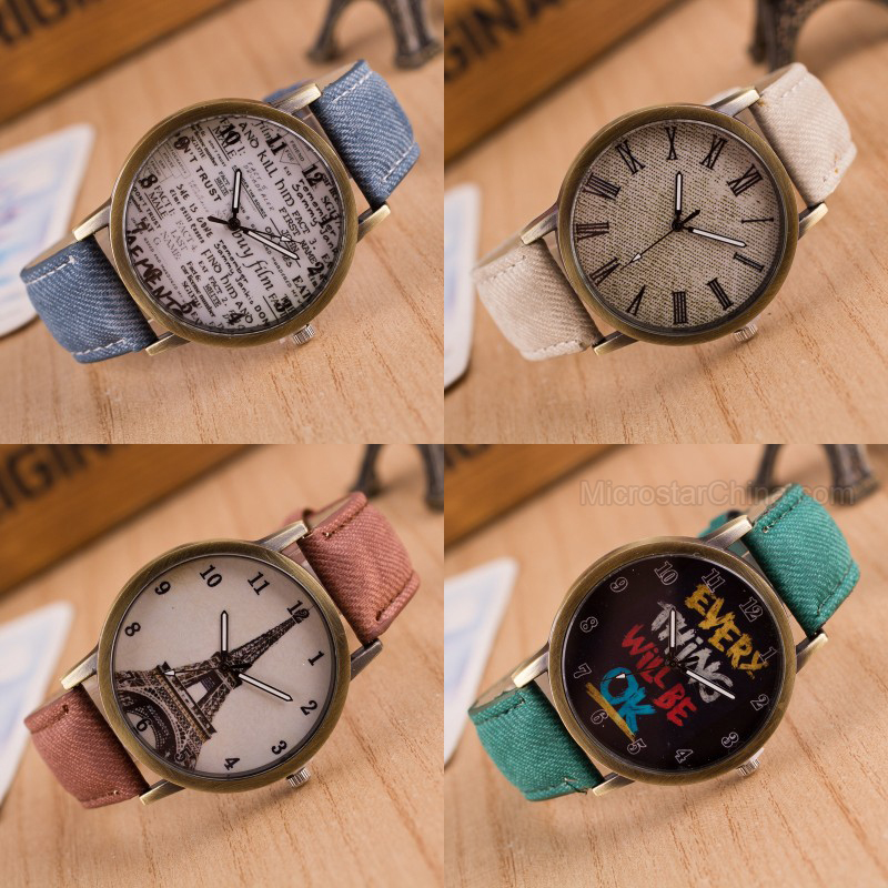 New Year Gift Men Women Canvas Wrist Watch