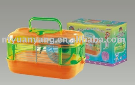 foldable plastic hamster cage with color box