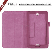 Tablet leather case folio flip mobile phone cover case with stand function tab case for Acer lconia one 7