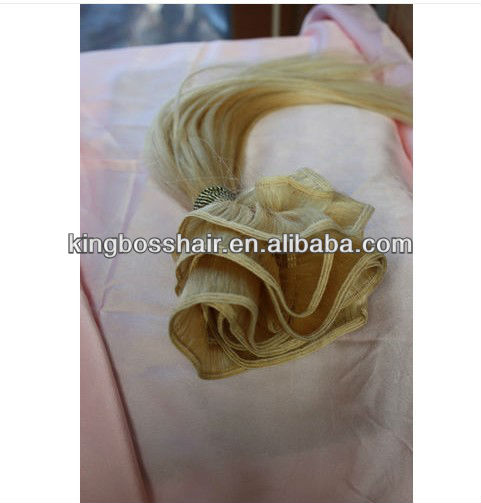 100Human virgin blond hair,hand tied hair weft very healthy hair, perfect for hair extensions. 8--32inch.#60