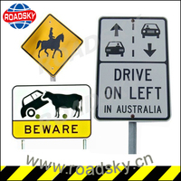 Reflective Black And White Aluminum Traffic Symbols And Signs